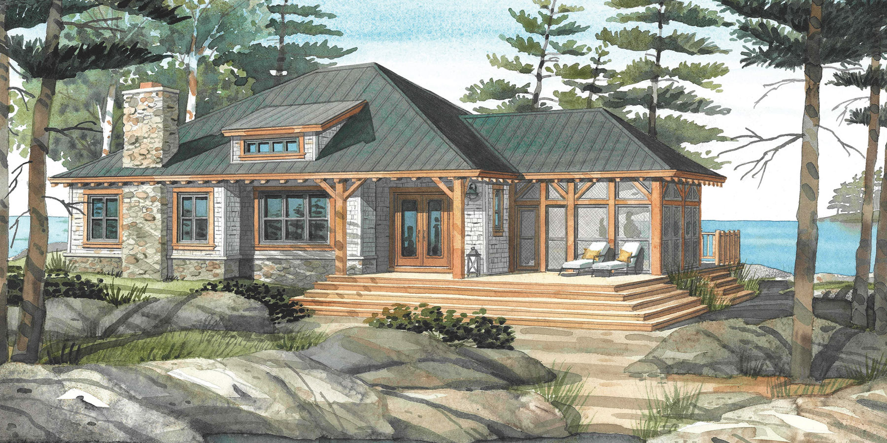 Cottage Plans amp; Custom Home Designs  Normerica Authentic Timber Frame
