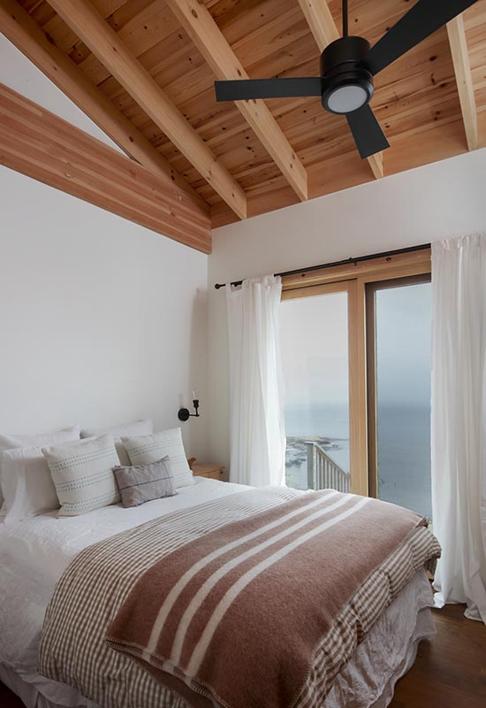 Normerica Timber Frame, Architects & Builders, Collaboration, Lakeside Cottage, Georgian Bay, Bedroom