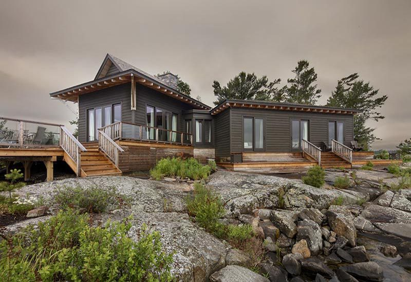 Normerica Timber Frame, Architects & Builders, Collaboration, Lakeside Cottage, Georgian Bay, Exterior