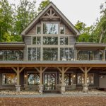 Normerica Timber Frame, Exterior, Cottage, Lake View