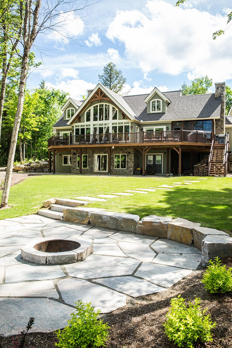 Normerica Timber Frame, Exterior, Cottage, Lake View, Fire Pit