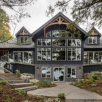 Normerica Timber Frame, Exterior, Cottage, Rear View, Lake View