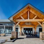 Normerica Timber Frames, Heights of Horseshoe, Ski & Country Club, Commercial Projects, Barrie, Ontario, Exterior, Clubhouse