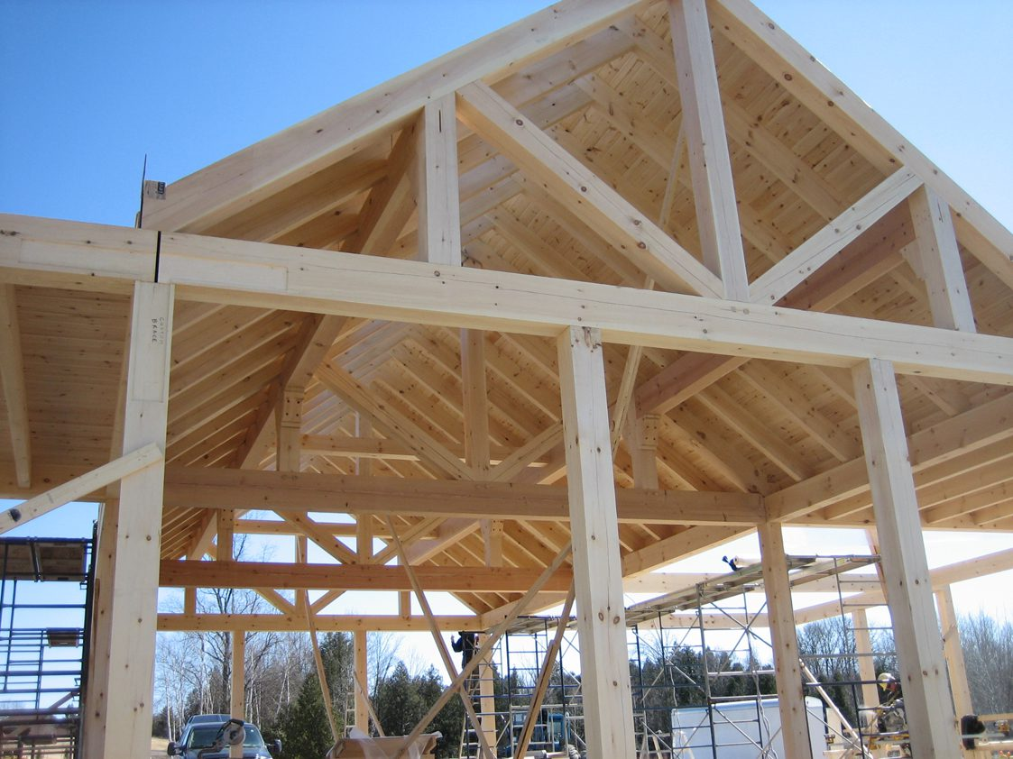 Normerica Timber Frame, Commercial Project, Cypress Mountain Day Lodge, West Vancouver, British Columbia, Ski Resort, Exterior, Construction