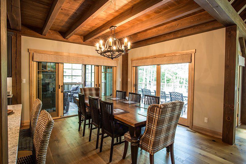 Normerica Timber Frame, Interior, Cottage, Dining Room