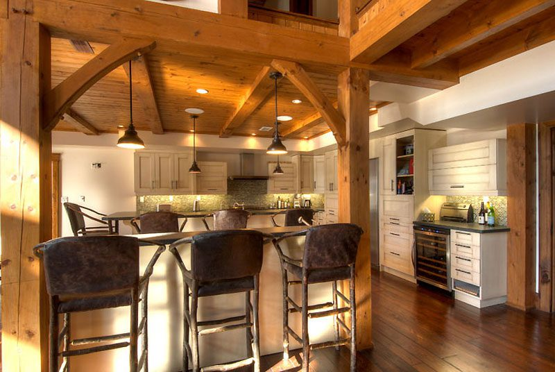 Normerica Timber Frame, Interior, Custom, Cottage, Kitchen