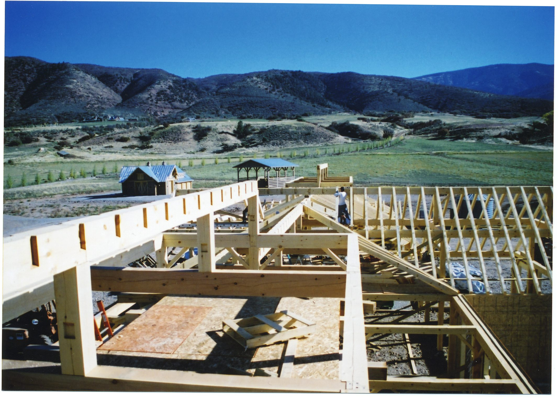 Normerica Timber Frames, Commercial Project, Chaparral Ranch, Construction, Timber Frame Roof, Aspen, USA, Exterior