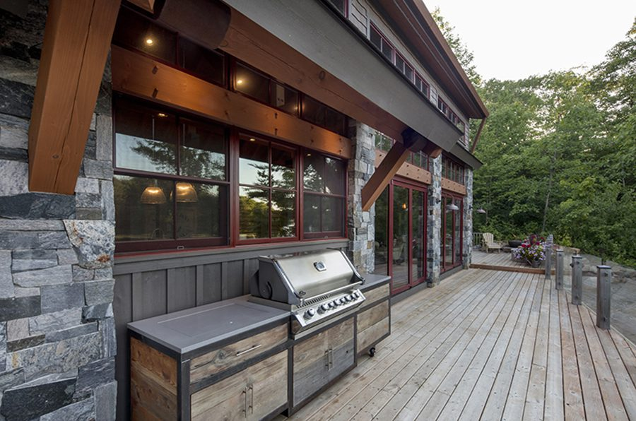 Normerica Timber Frame, Exterior, Cottage, Porch, Deck, Outdoor Living, Barbecue Area
