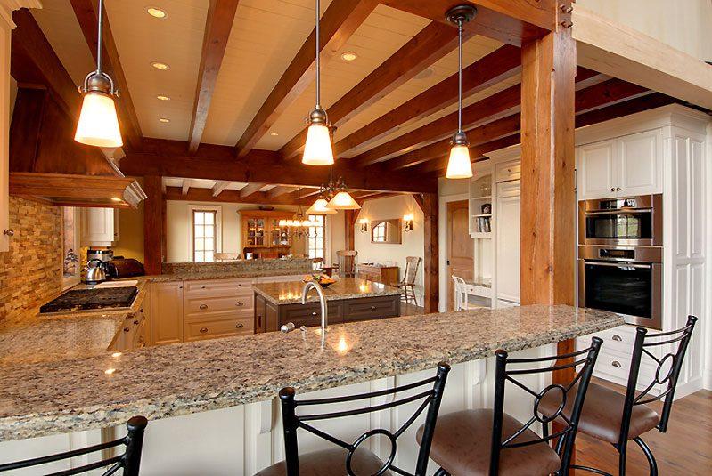 Normerica Timber Frame, Interior, Cottage, Kitchen