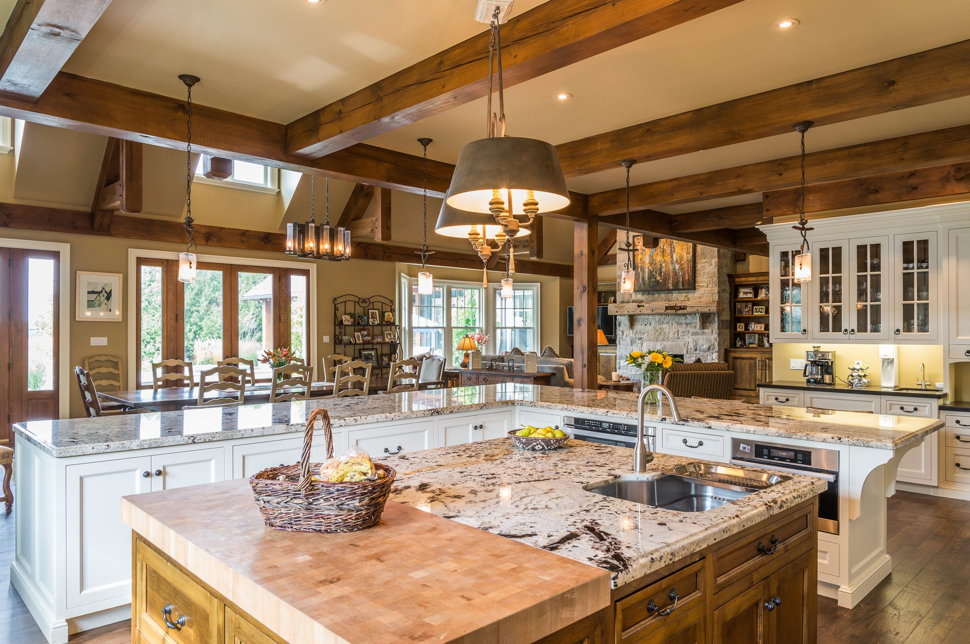 Normerica Timber Frame, Interior, Country House, Kitchen