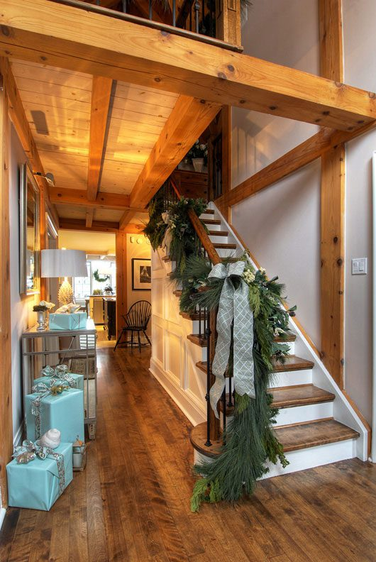 Normerica Timber Frame, Interior, Hallway, Stairs