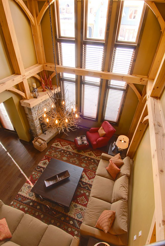 Normerica Timber Frame, Interior, Living Room, Cathedral Ceiling