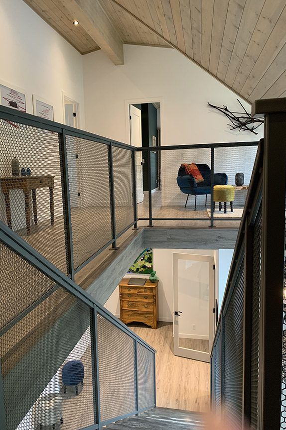 Normerica Timber Frame, Interior, Modern, Contemporary, Metal Stairs