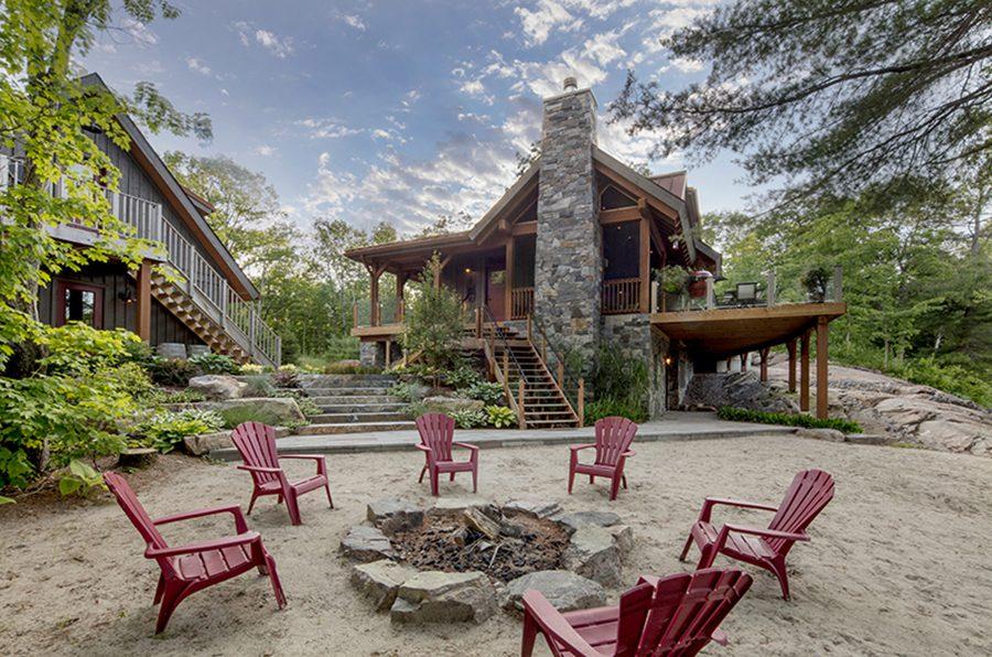 Normerica Timber Frame, Exterior, Cottage, Outdoor Living, Firepit