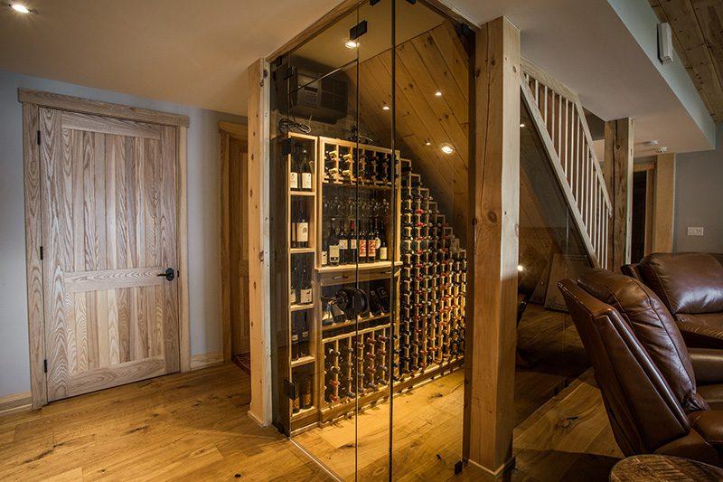 Normerica Timber Frame, Interior, Cottage, Basement, Cellar, Wine