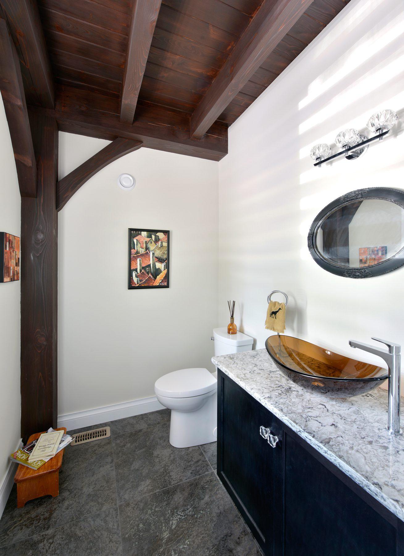 Normerica Timber Frame, Interior, Cottage, Bathroom, Powder Room