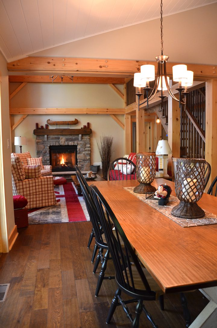 Normerica Timber Frame, Interior, Cottage, Dining Room, Open Concept
