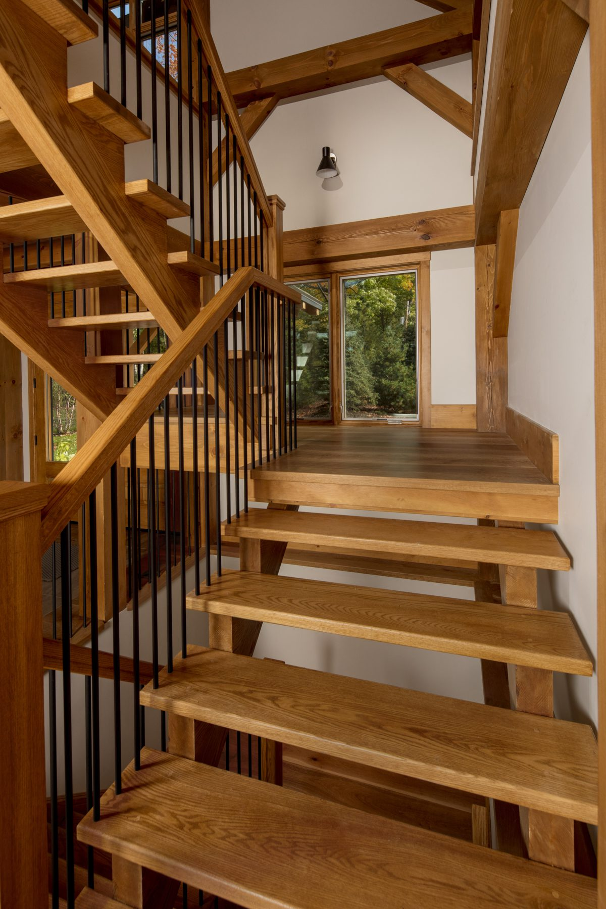 Normerica Timber Frame, Interior, Cottage, Stairs