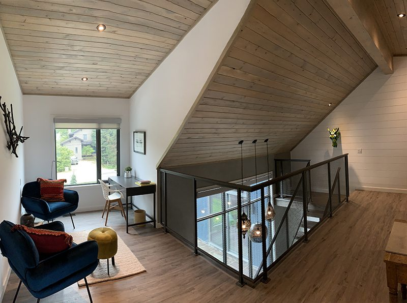 Normerica Timber Frame, Interior, Hallway, Sitting Room, Office, Modern, Contemporary