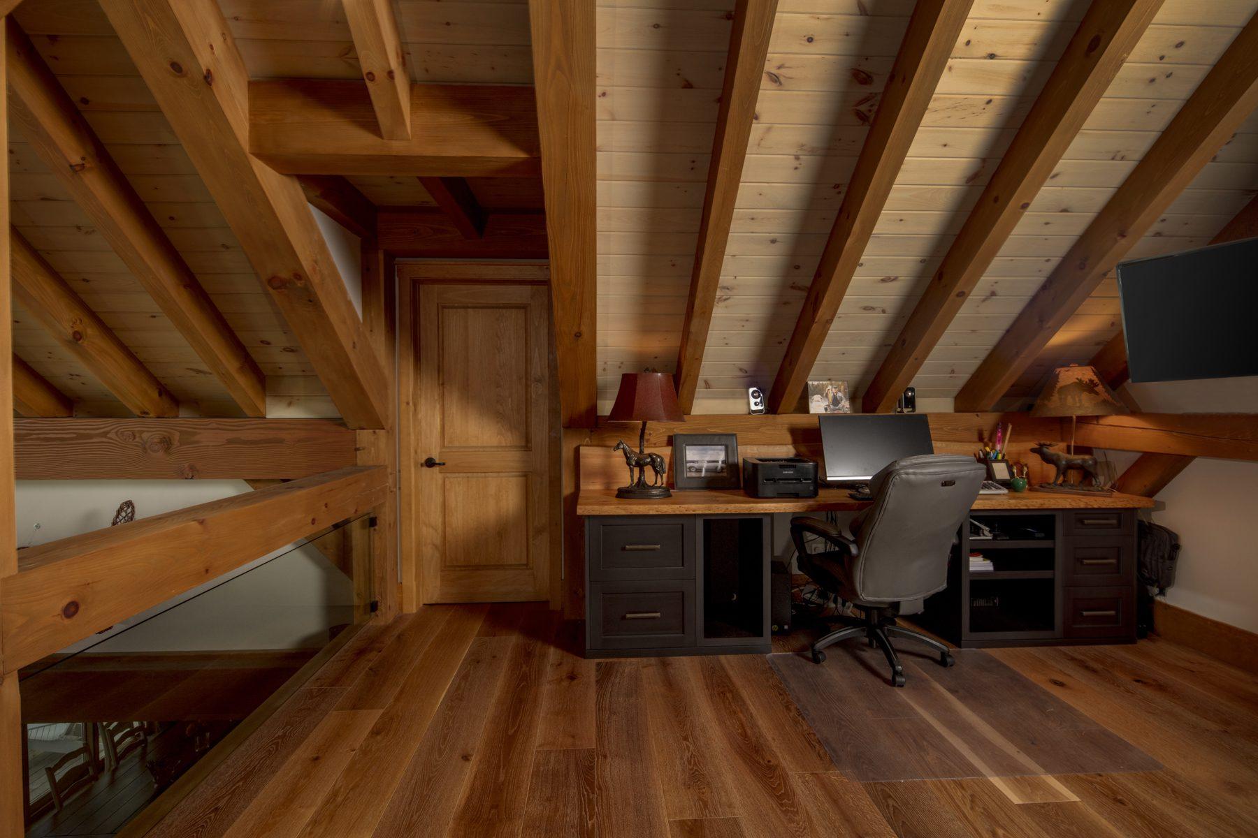 Normerica Timber Frame, Interior, Cottage, Loft, Office