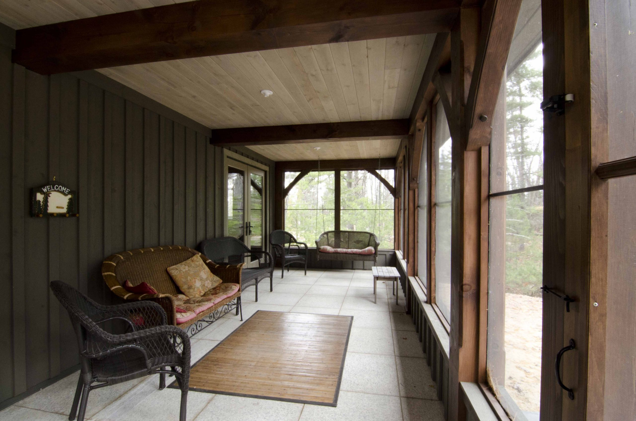 Normerica Timber Frame, Interior, Cottage, Screened Porch