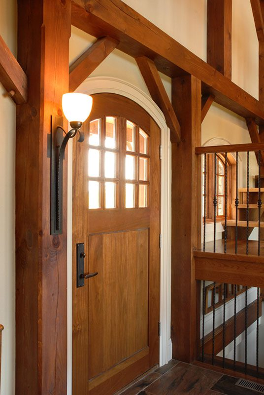 Normerica Timber Frame, Interior, Cottage, Front Door, Entry
