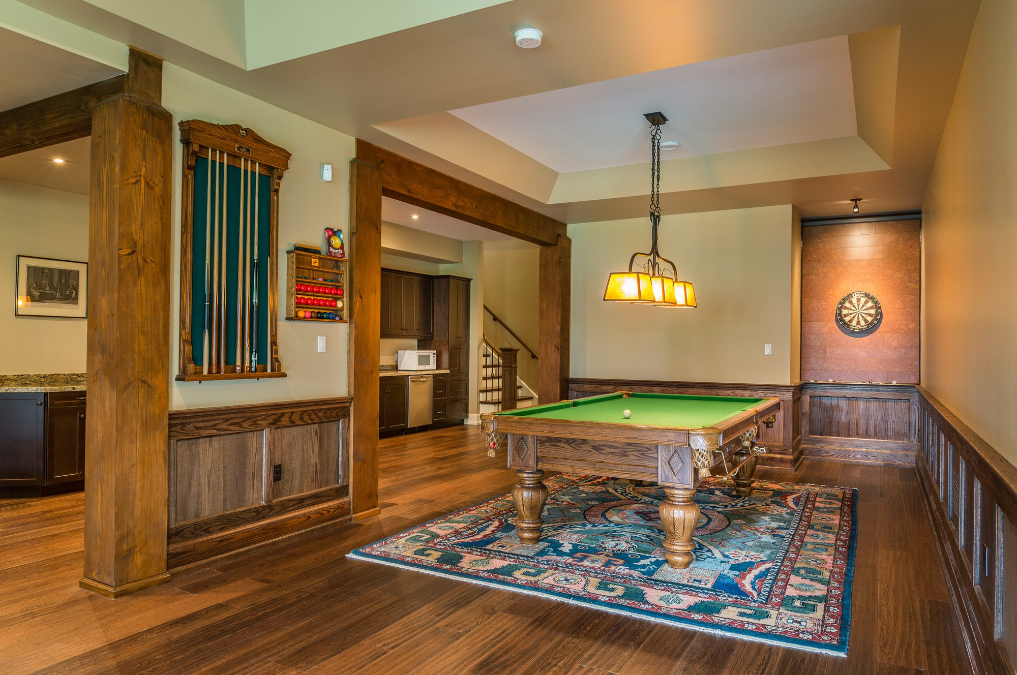 Normerica Timber Frame, Interior, Country House, Games Room, Pool Table