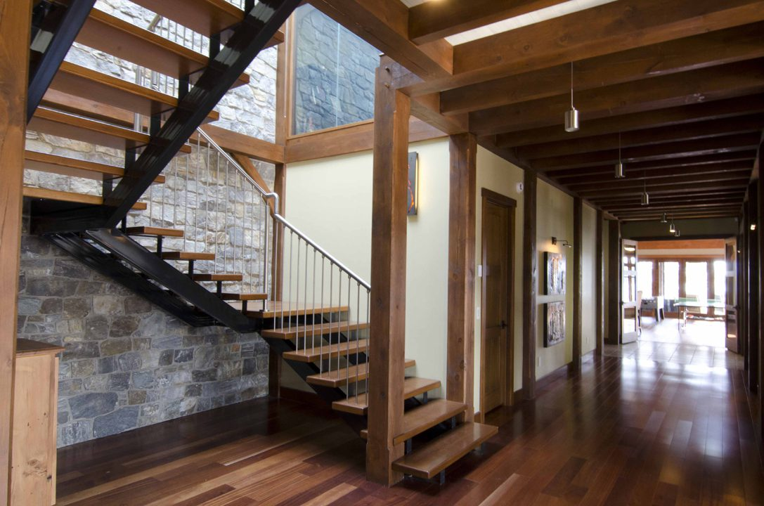 Normerica Timber Frame, Interior, Stairs, Hallway