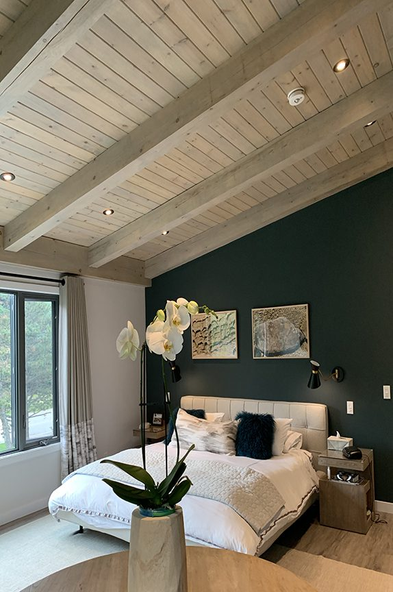 Normerica Timber Frame, Interior, Bedroom, Sloped Roof, Contemporary, Modern
