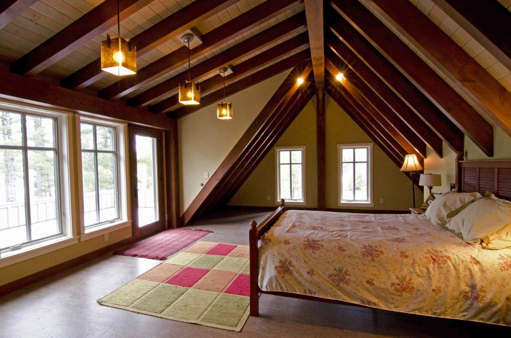 Normerica Timber Frame, Interior, Cottage, Bedroom