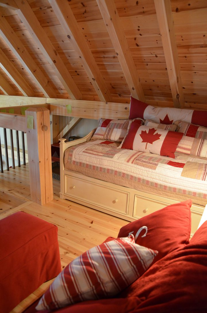 Normerica Timber Frame, Interior, Cottage, Loft