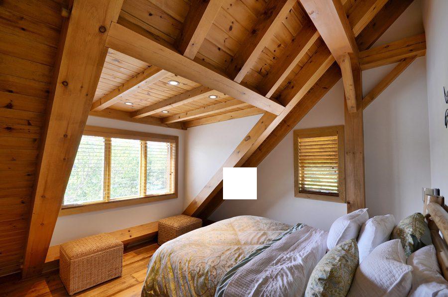 Normerica Timber Frame, Interior, Bedroom, Loft