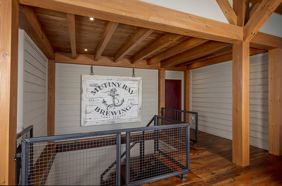 Normerica Timber Frame, Interior, Cottage, Hallway, Metal Stairs, Modern