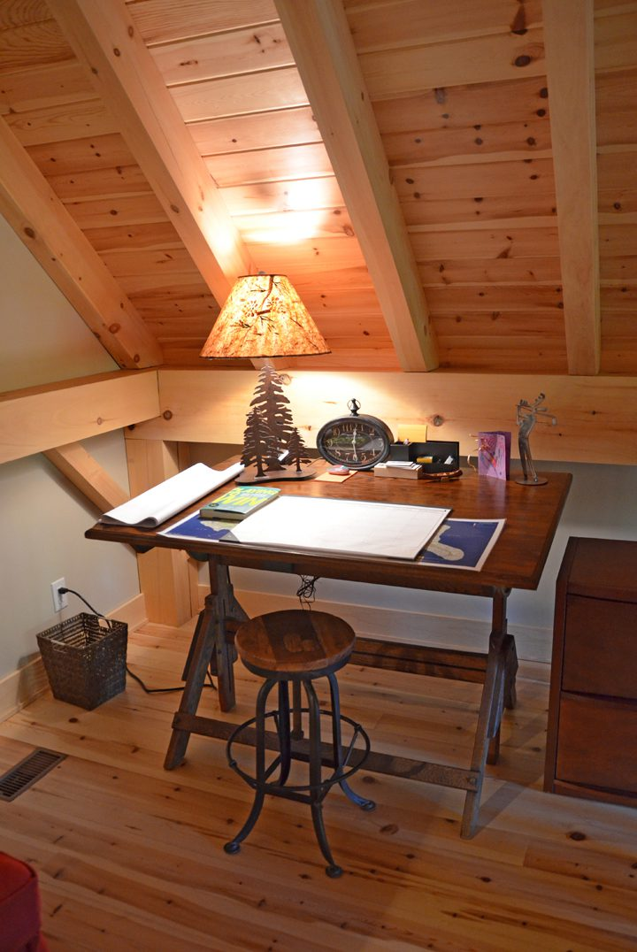 Normerica Timber Frame, Interior, Cottage, Office