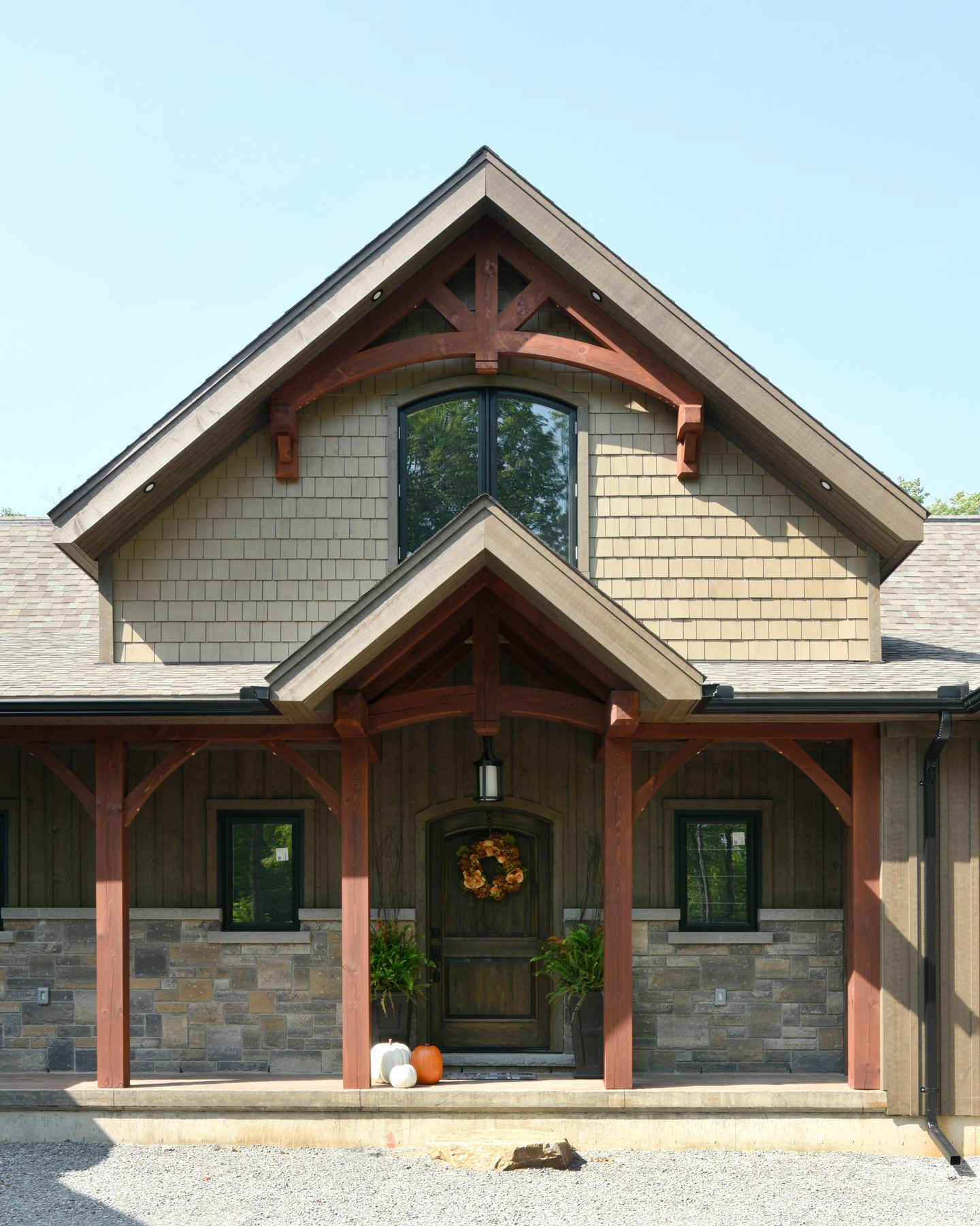 Normerica Timber Frame, Exterior, Cottage, Front, Porch