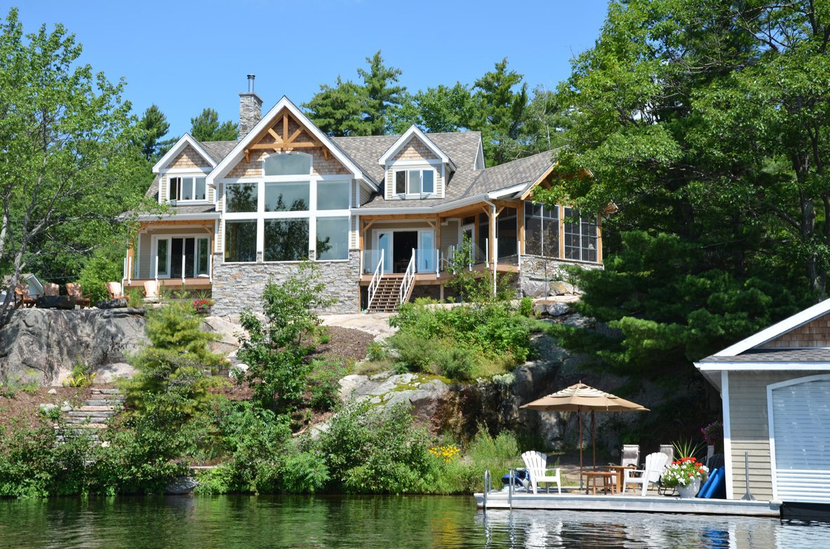 Normerica Timber Frame, Exterior, Cottage, Lakeview, Lake, Boathouse