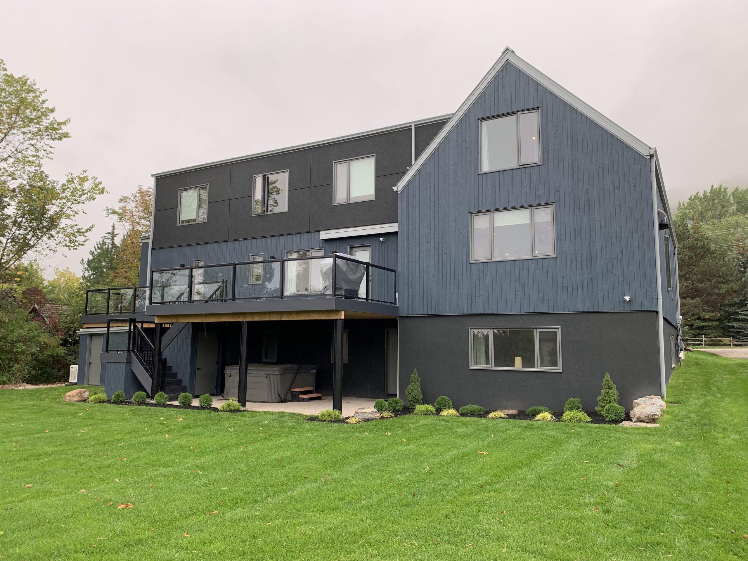Normerica Timber Frame, Exterior, Rear View, Backyard