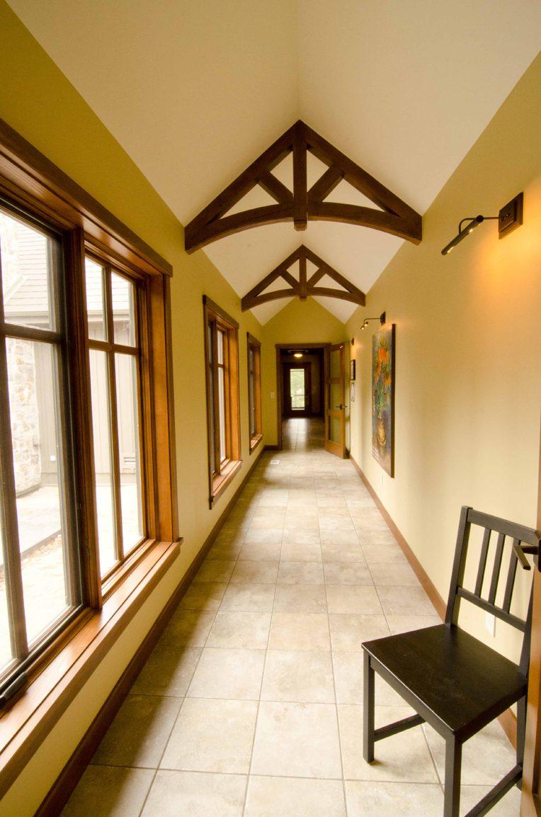 Normerica Timber Frame, Interior, Cottage, Hallway