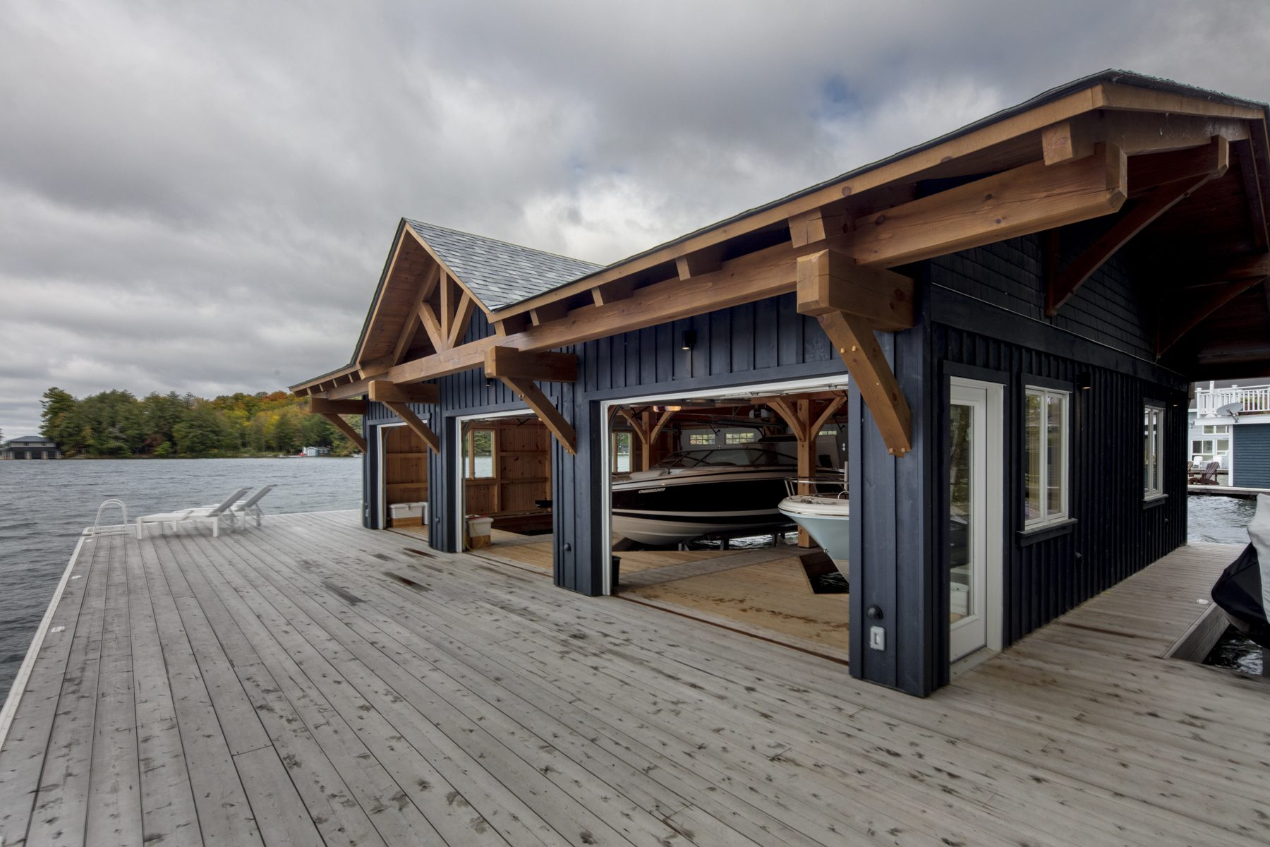 Normerica Timber Frame, Exterior, Cottage, Boathouse, Dock