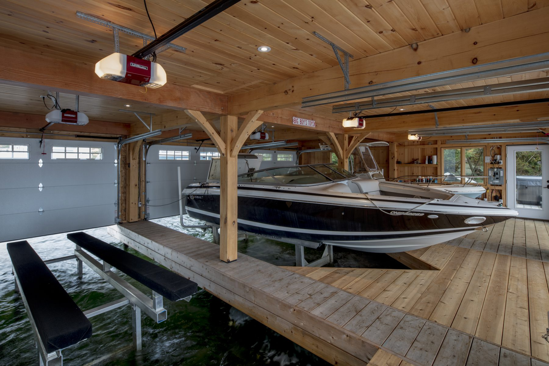 Normerica Timber Frame, Exterior, Cottage, Boathouse, Boat Slips
