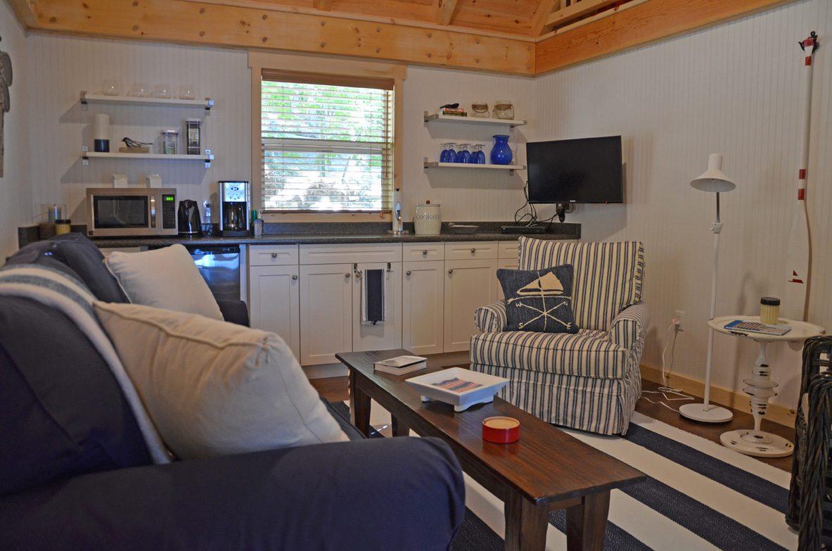 Normerica Timber Frame, Interior, Cabin, Bunkie, Kitchen