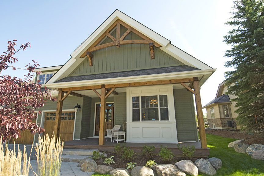 Normerica Timber Frame, Exterior, Attached Garage, Porch, Front Entry