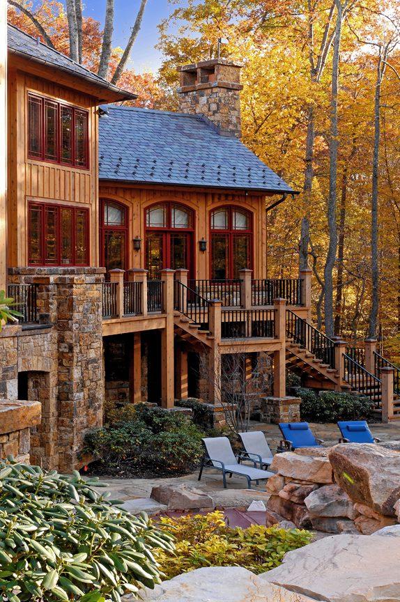 Normerica Timber Frame, Exterior, Backyard, Rear View