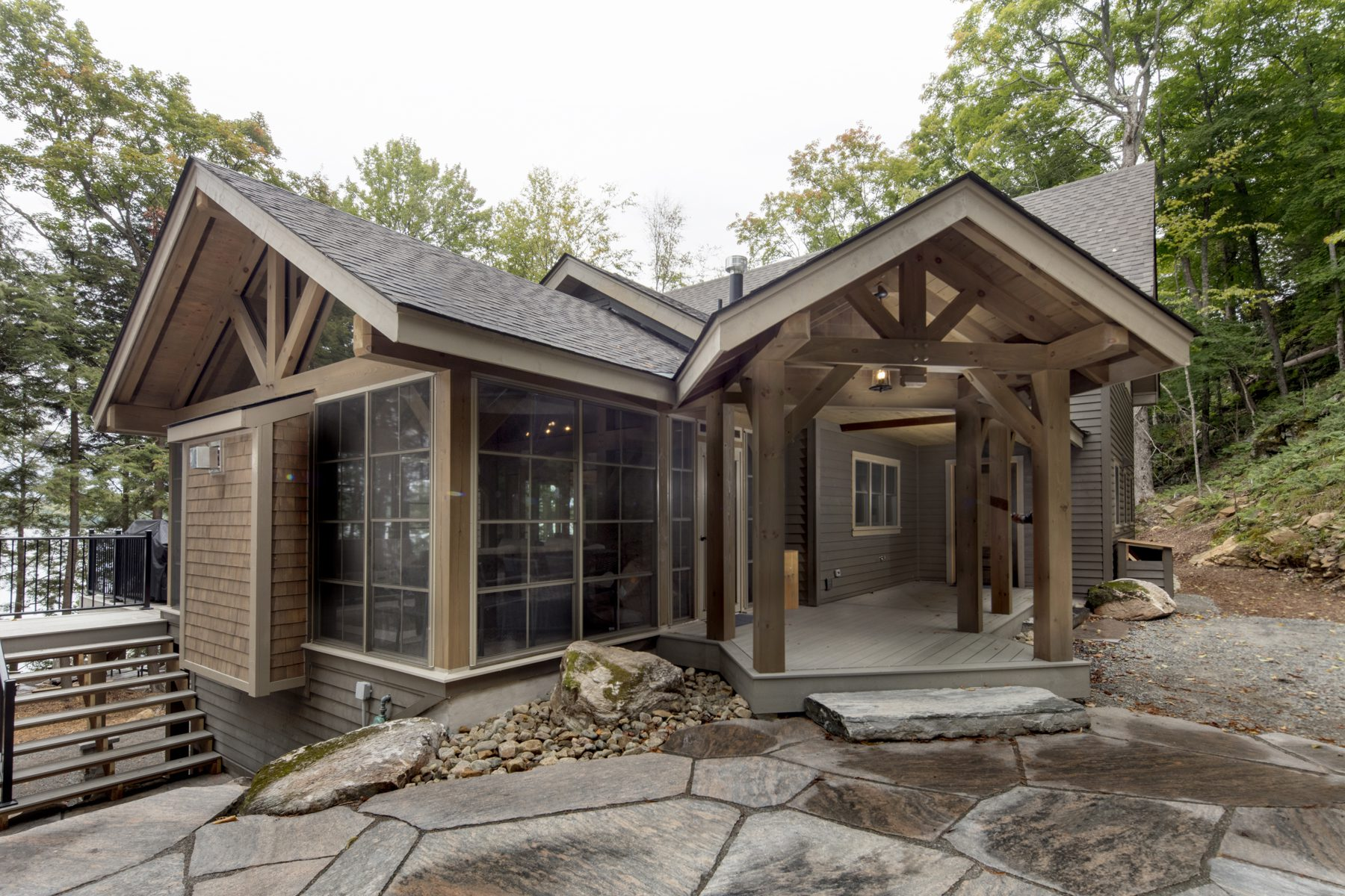 Normerica Timber Frame, Exterior, Cottage, Entry