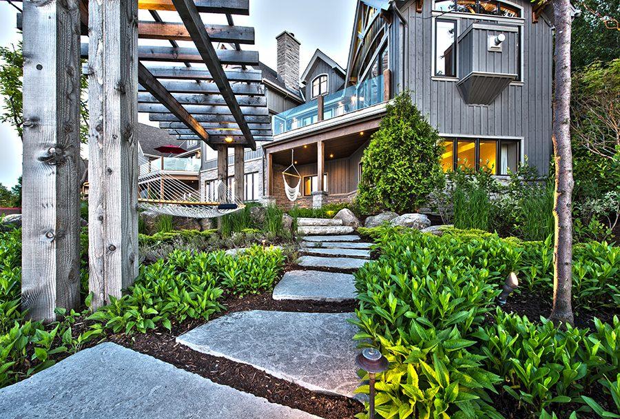 Normerica Timber Frame, Exterior, Cottage, Path, Garden