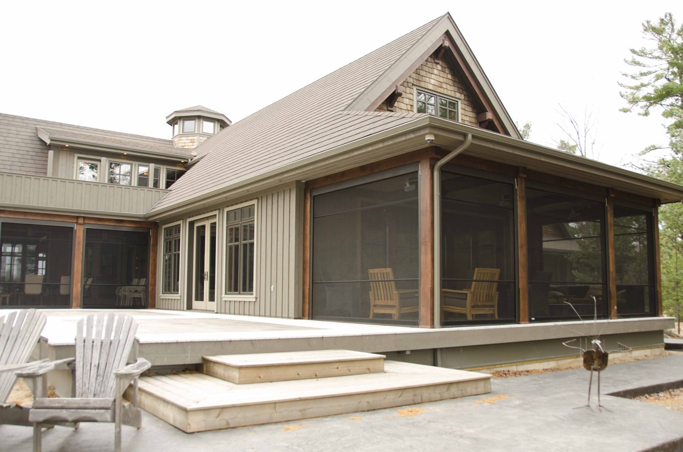 Normerica Timber Frame, Exterior, Cottage, Screen Porch, Backyard, Deck