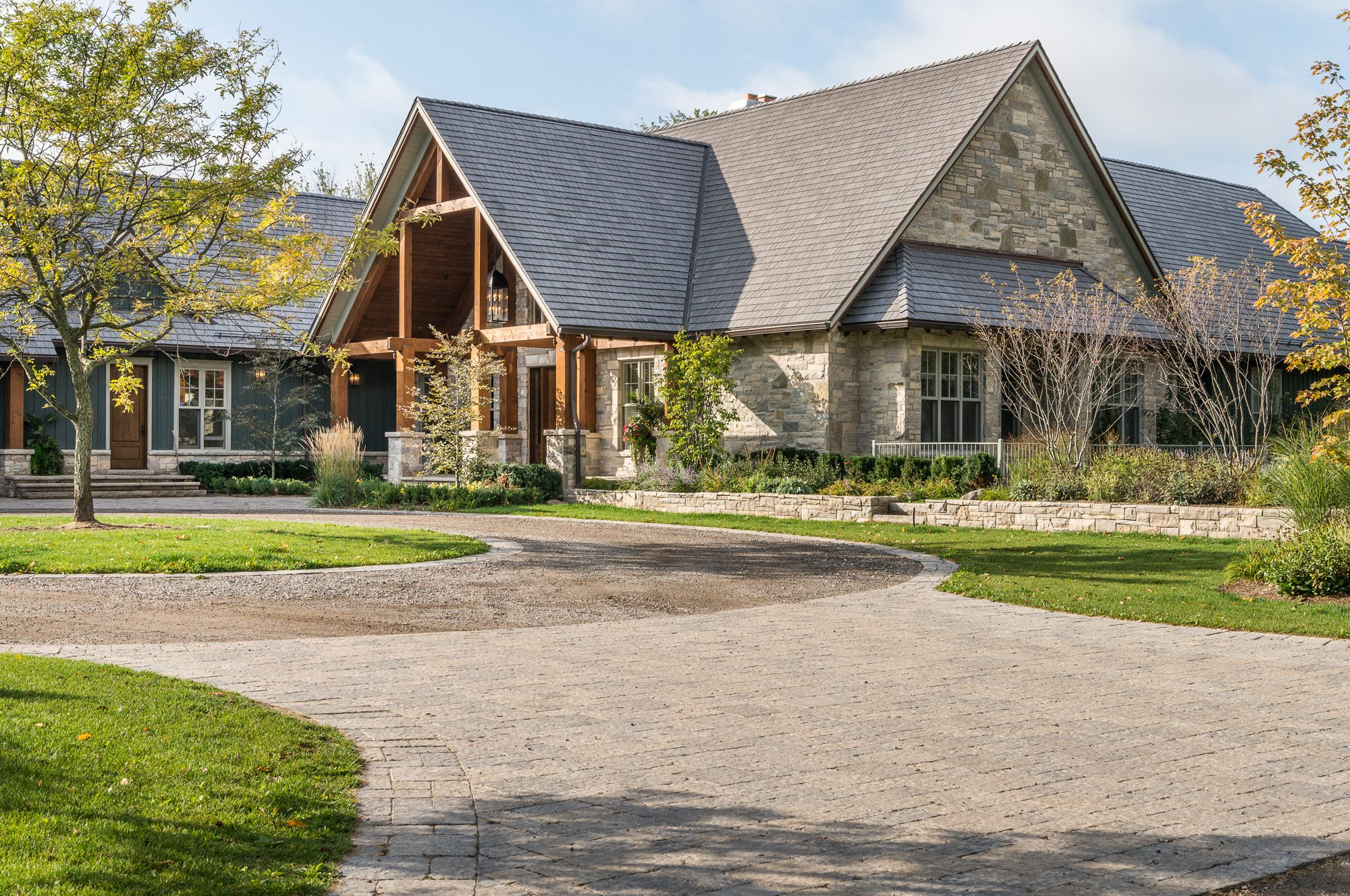 Normerica Timber Frame, Exterior, Country House, Front
