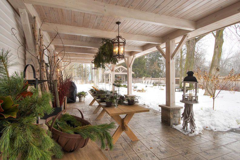 Normerica Timber Frame, Exterior, Covered Porch