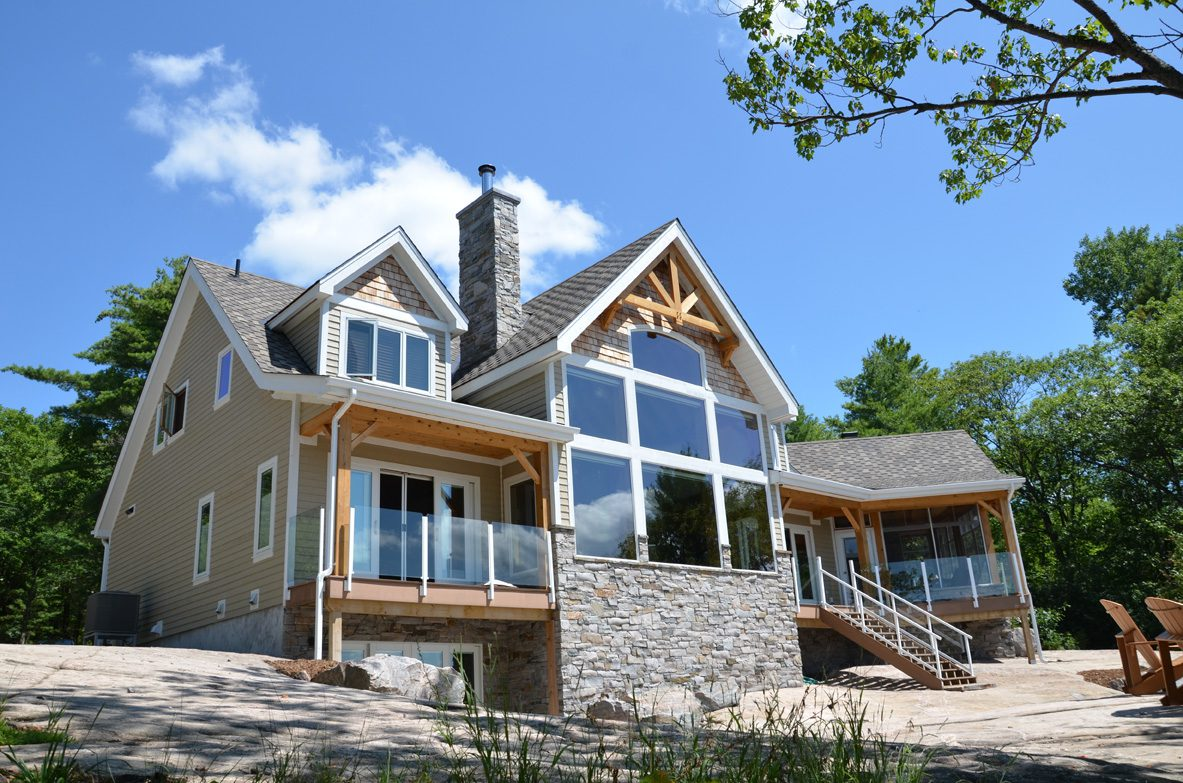 Normerica Timber Frame, Exterior, Lakeview, Cottage
