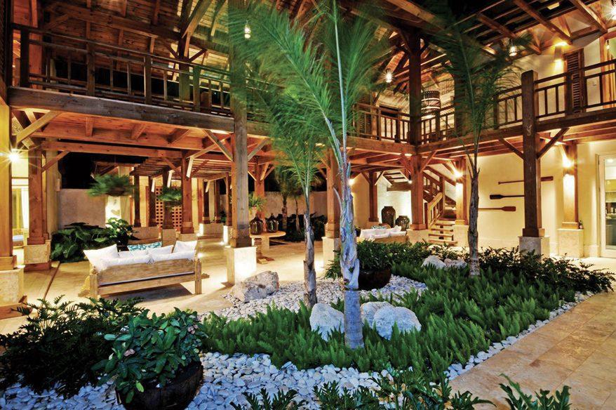 Normerica Timber Frames, Commercial Project, Las Iguanas Villas, Dominican Republic, Interior, Courtyard, Villas